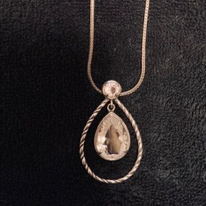Brighton Clear/CZ Pear Shaped pendant necklace